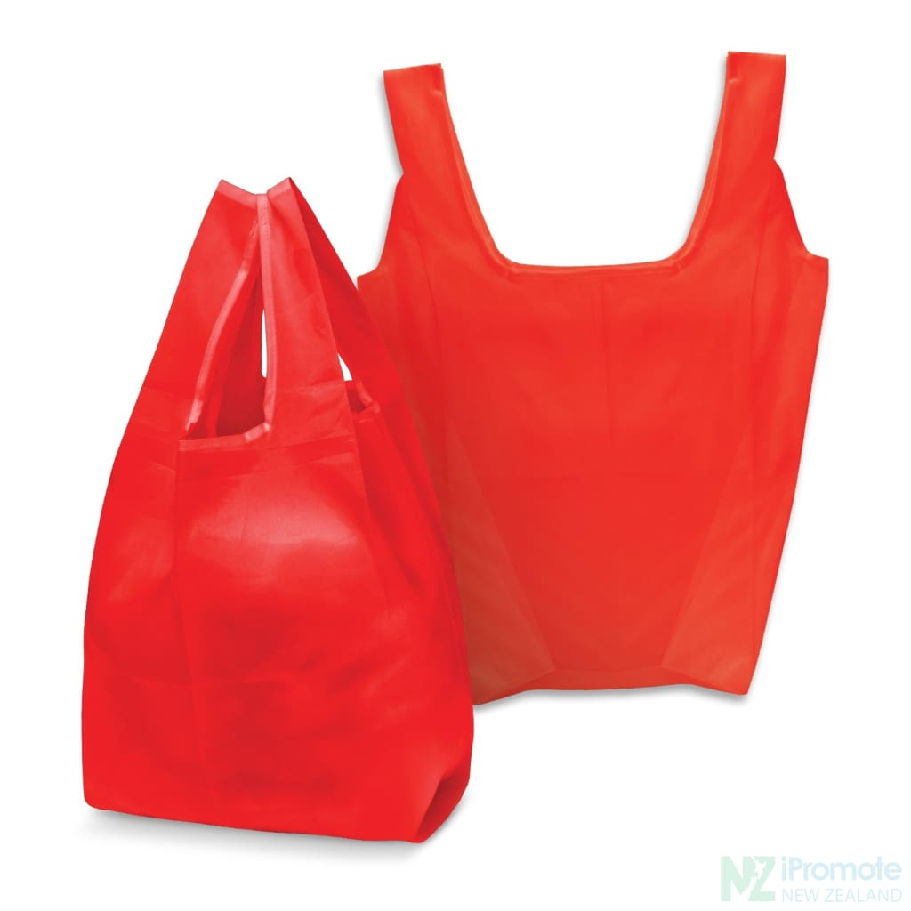 Compact Shopping Bag Red Tote Bags