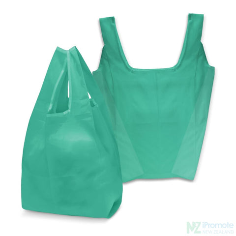 Image of Compact Shopping Bag Teal Tote Bags
