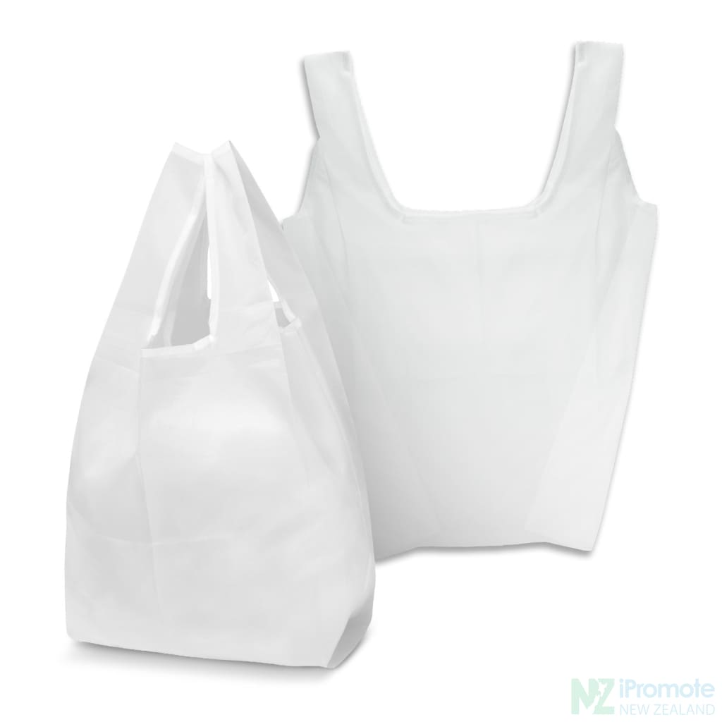 Compact Shopping Bag White Tote Bags