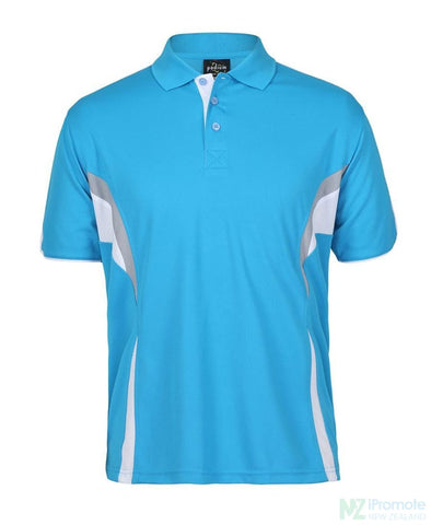 Image of Cool Polo Aqua/white/grey Shirts