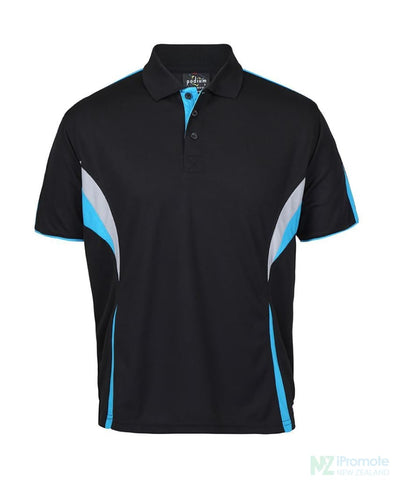 Image of Cool Polo Black/aqua/grey Shirts