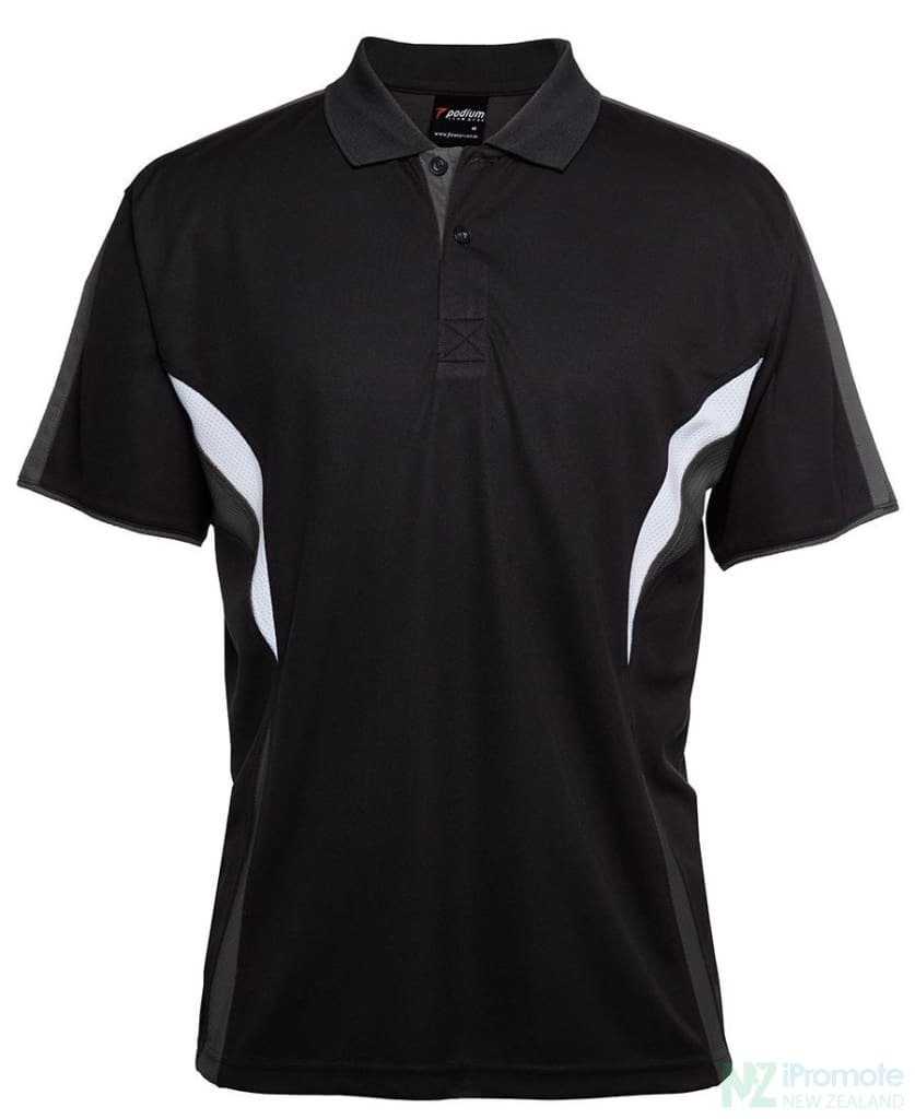 Cool Polo Black/charcoal/white Shirts