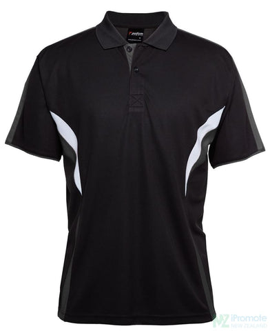 Image of Cool Polo Black/charcoal/white Shirts