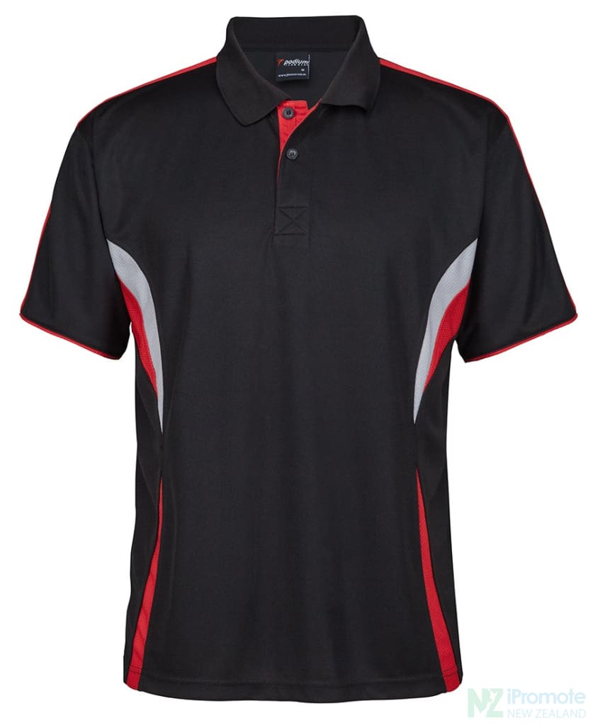 Cool Polo Black/red/grey Shirts