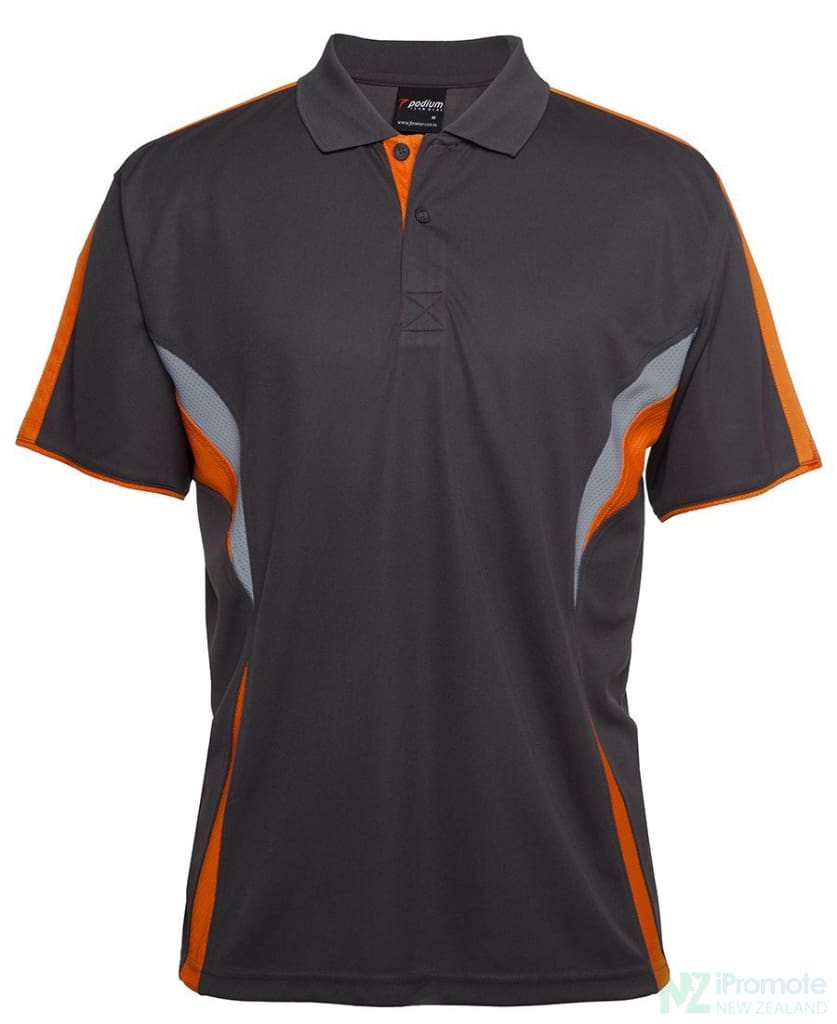 Cool Polo Gunmetal/orange/grey Shirts