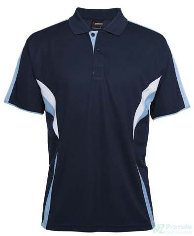 Image of Cool Polo Navy/lt Blue/white Shirts