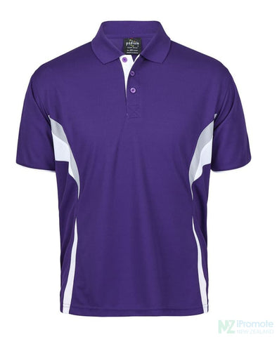 Image of Cool Polo Purple/white/grey Shirts