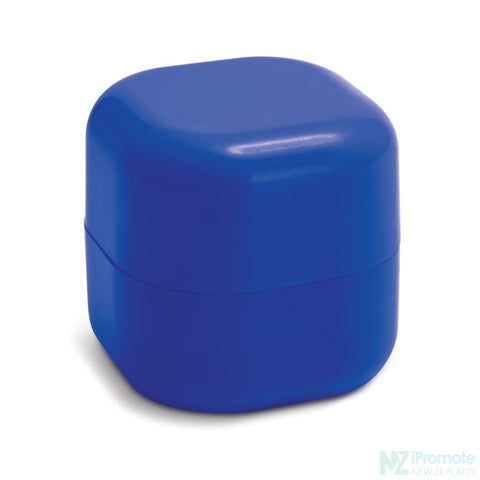 Image of Cube Shaped Lip Balm In Assorted Colours Dark Blue
