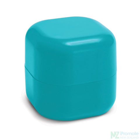 Image of Cube Shaped Lip Balm In Assorted Colours Light Blue