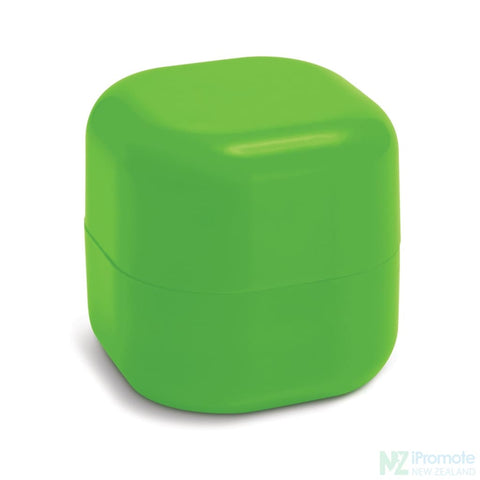 Image of Cube Shaped Lip Balm In Assorted Colours Light Green
