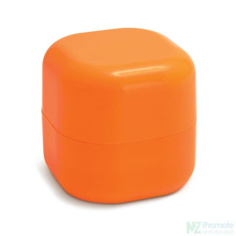 Image of Cube Shaped Lip Balm In Assorted Colours Orange