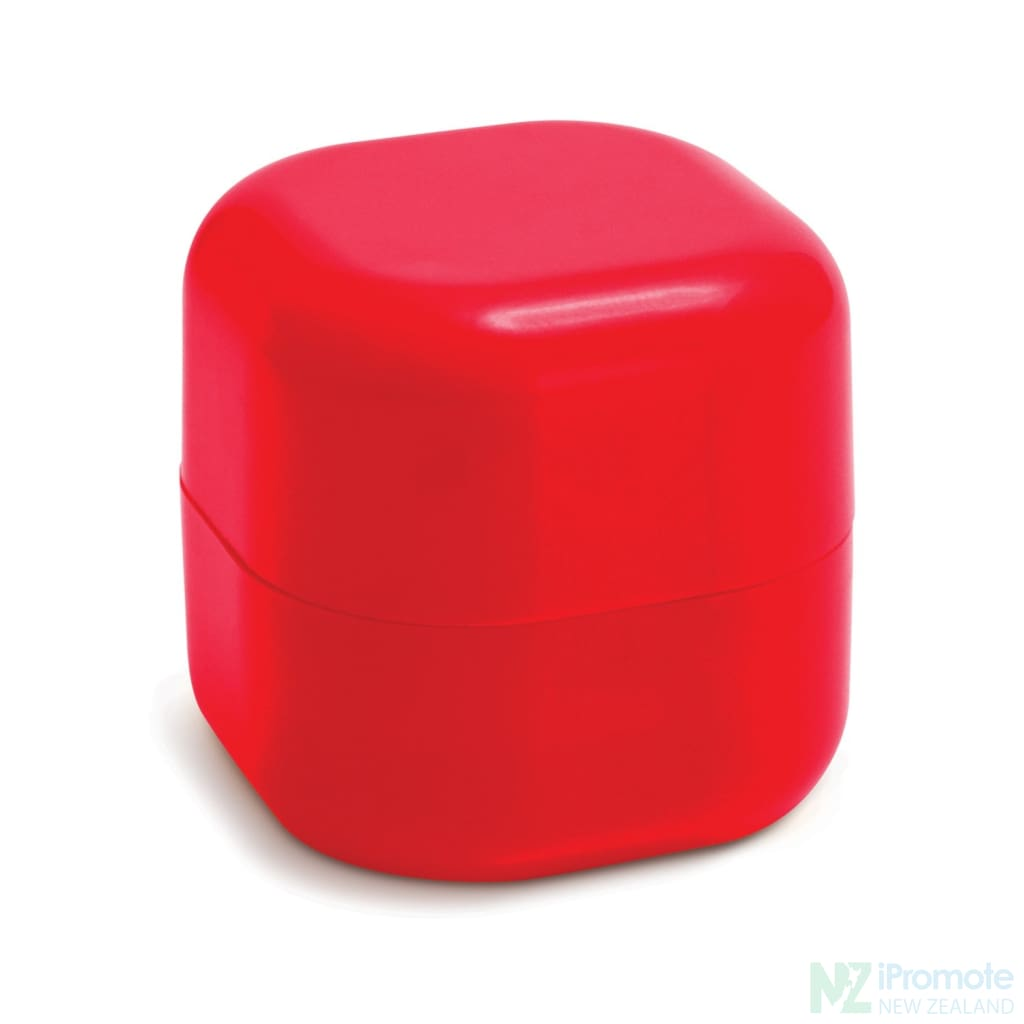 Cube Shaped Lip Balm In Assorted Colours Red