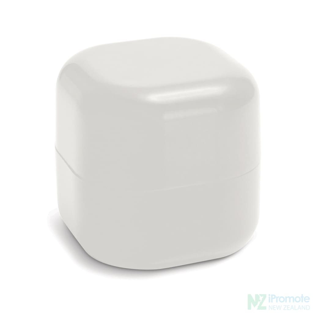 Cube Shaped Lip Balm In Assorted Colours White