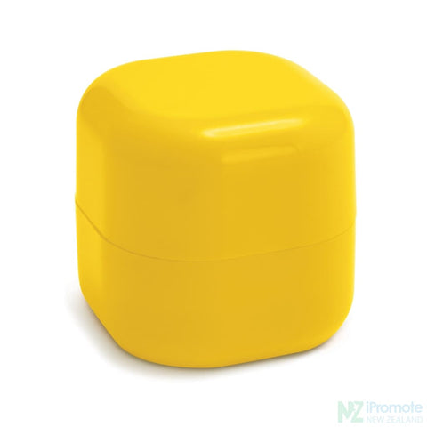 Image of Cube Shaped Lip Balm In Assorted Colours Yellow