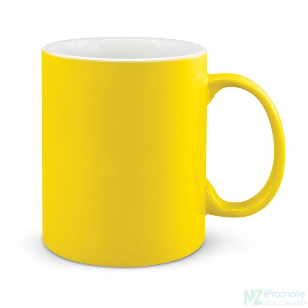 D Handle Coffee Mug Yellow / 48 Ceramic Coffee