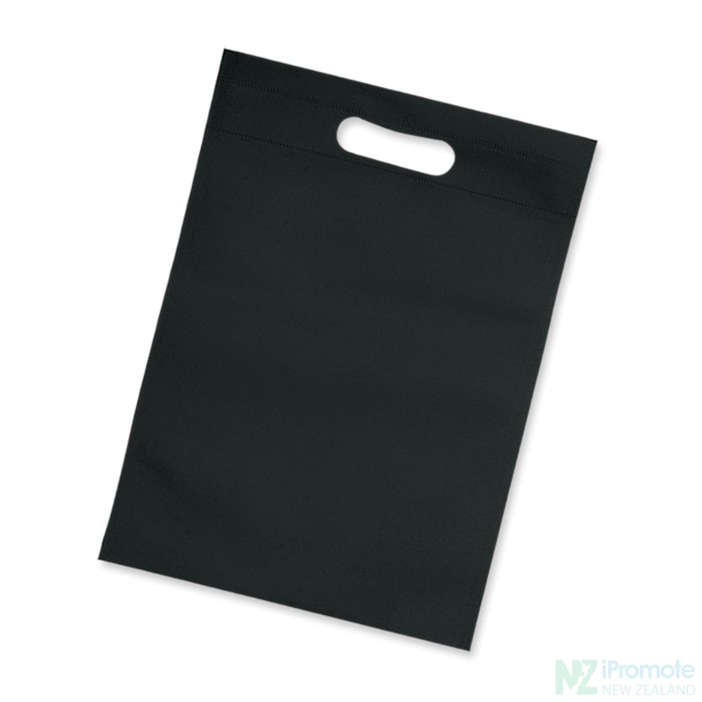 Die Cut Small Non Woven Bag Black Tote Bags