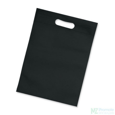 Image of Die Cut Small Non Woven Bag Black Tote Bags