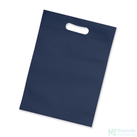 Image of Die Cut Small Non Woven Bag Navy Tote Bags