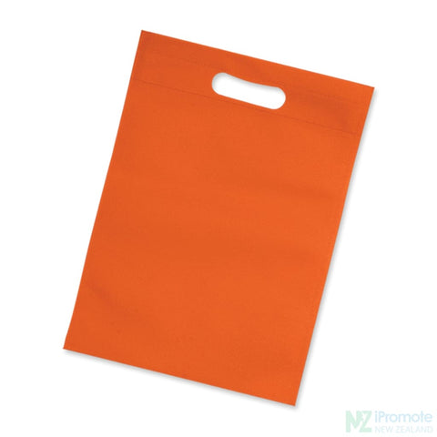 Image of Die Cut Small Non Woven Bag Orange Tote Bags