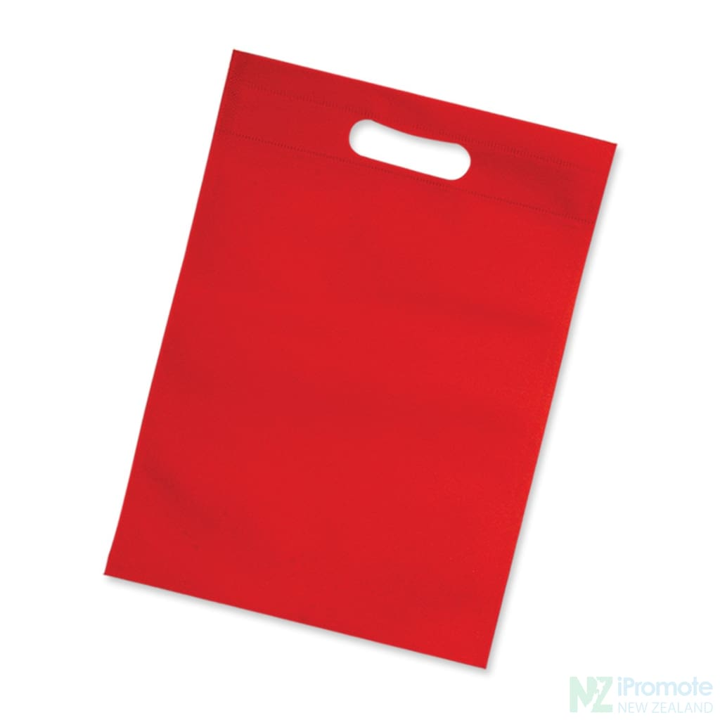 Die Cut Small Non Woven Bag Red Tote Bags