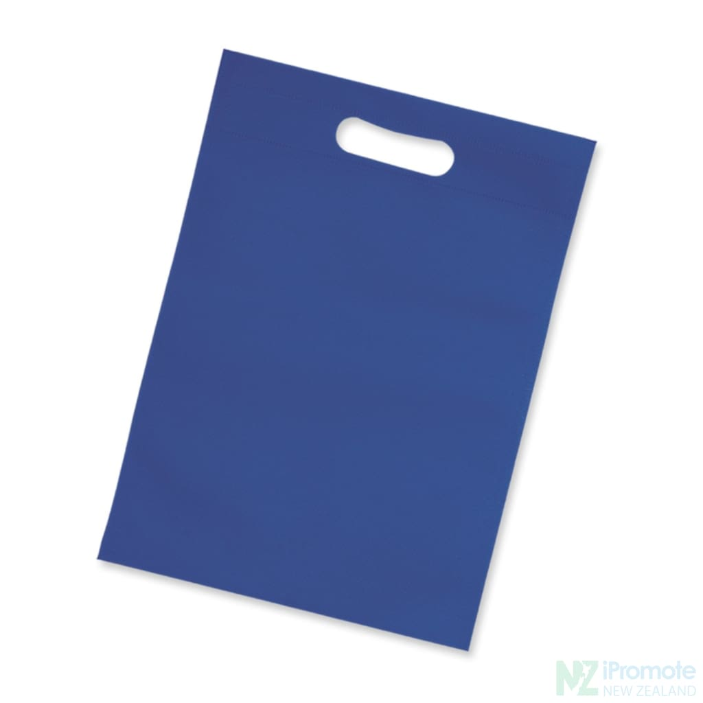 Die Cut Small Non Woven Bag Royal Blue Tote Bags