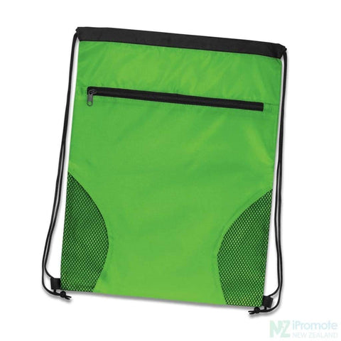 Dodger Drawstring Backpack Bright Green Bag