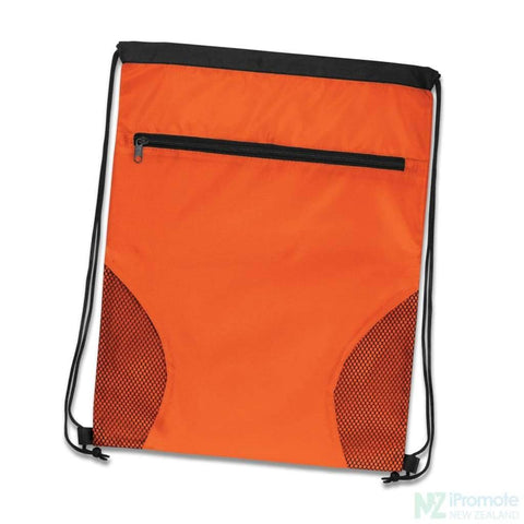 Dodger Drawstring Backpack Orange Bag