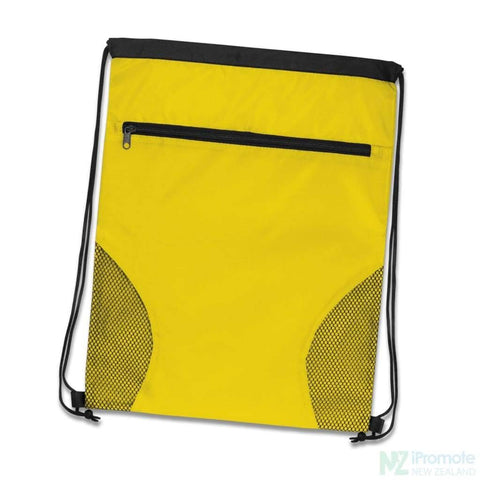 Image of Dodger Drawstring Backpack Yellow Bag