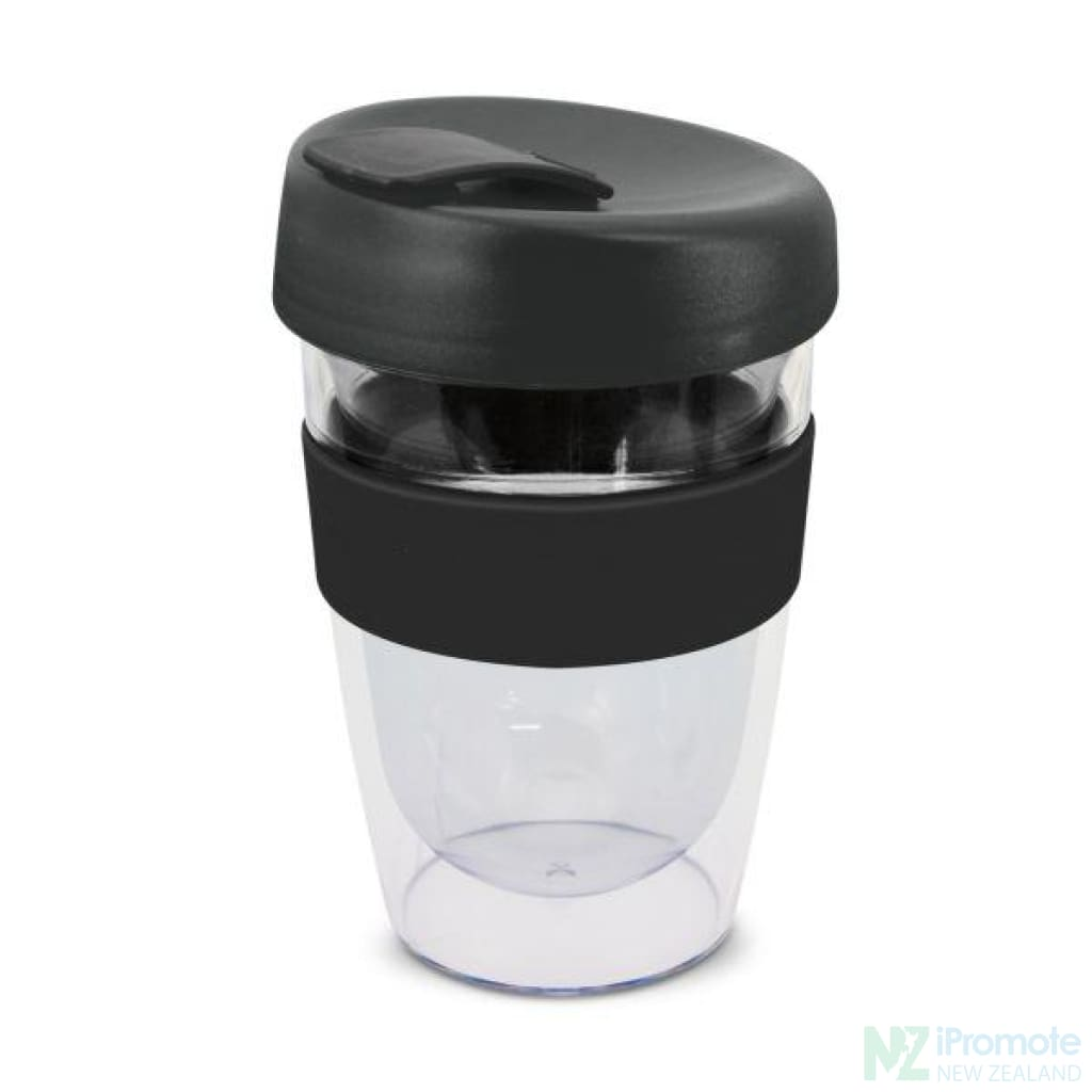 Double Walled 330Ml Express Cup Black Reusable Mugs