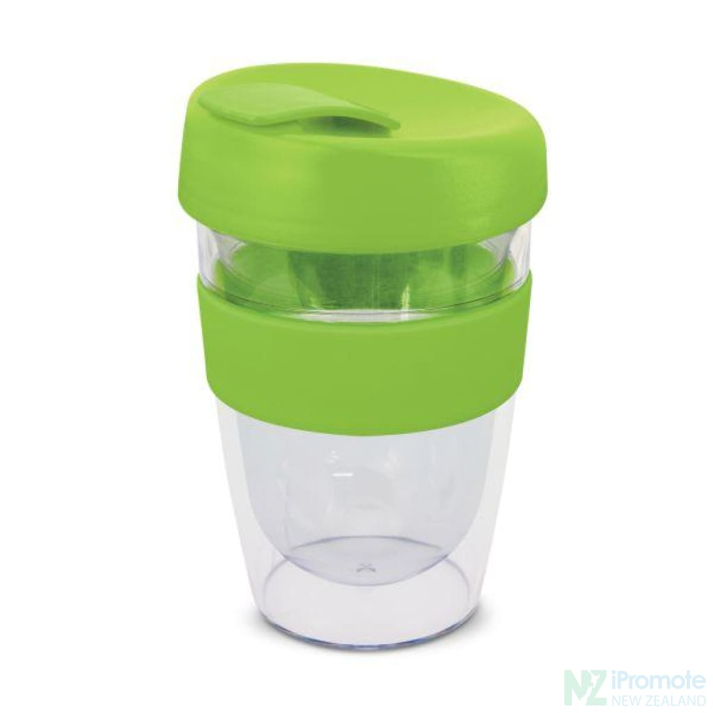Double Walled 330Ml Express Cup Bright Green Reusable Mugs