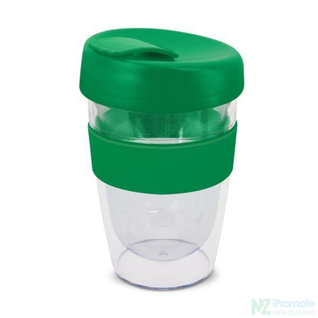 Double Walled 330Ml Express Cup Dark Green Reusable Mugs