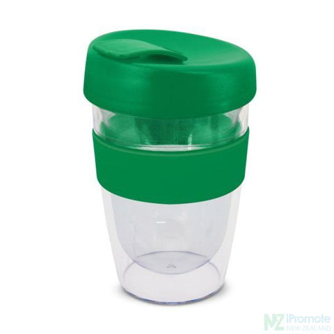 Image of Double Walled 330Ml Express Cup Dark Green Reusable Mugs