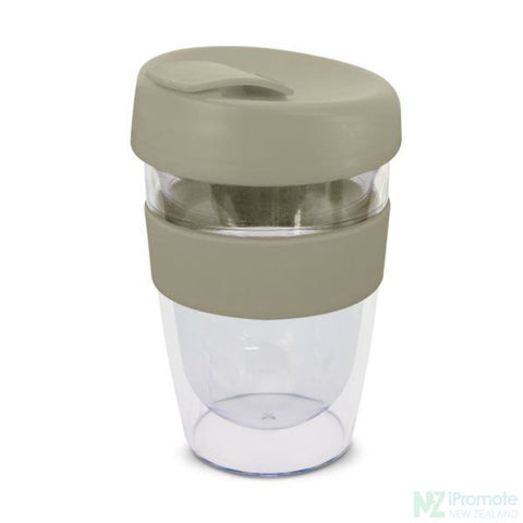 Image of Double Walled 330Ml Express Cup Grey Reusable Mugs