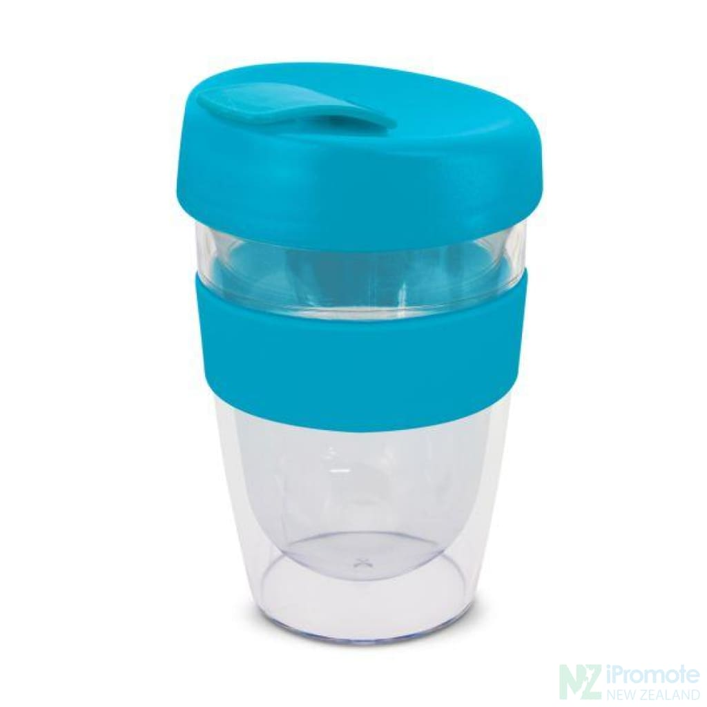 Double Walled 330Ml Express Cup Light Blue Reusable Mugs