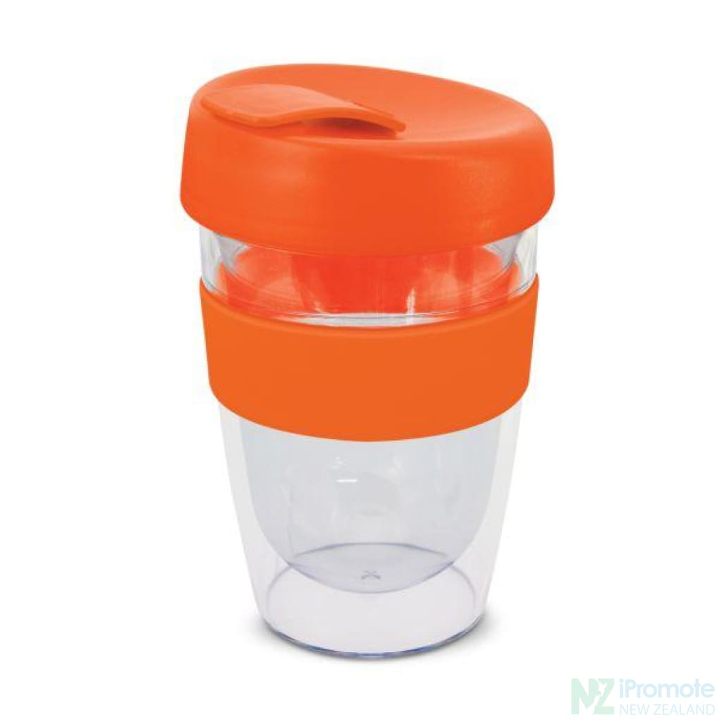 Double Walled 330Ml Express Cup Orange Reusable Mugs