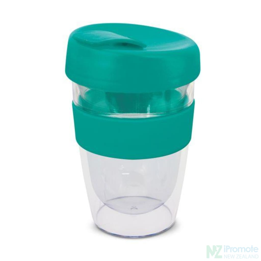 Double Walled 330Ml Express Cup Teal Reusable Mugs