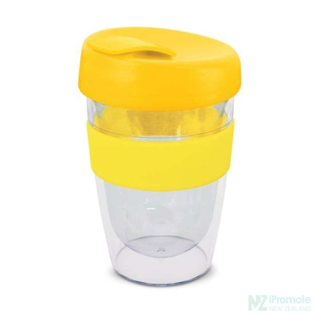 Double Walled 330Ml Express Cup Yellow Reusable Mugs