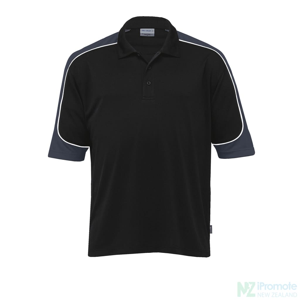Dri Gear Challenger Polo Black/charcoal/white Shirts