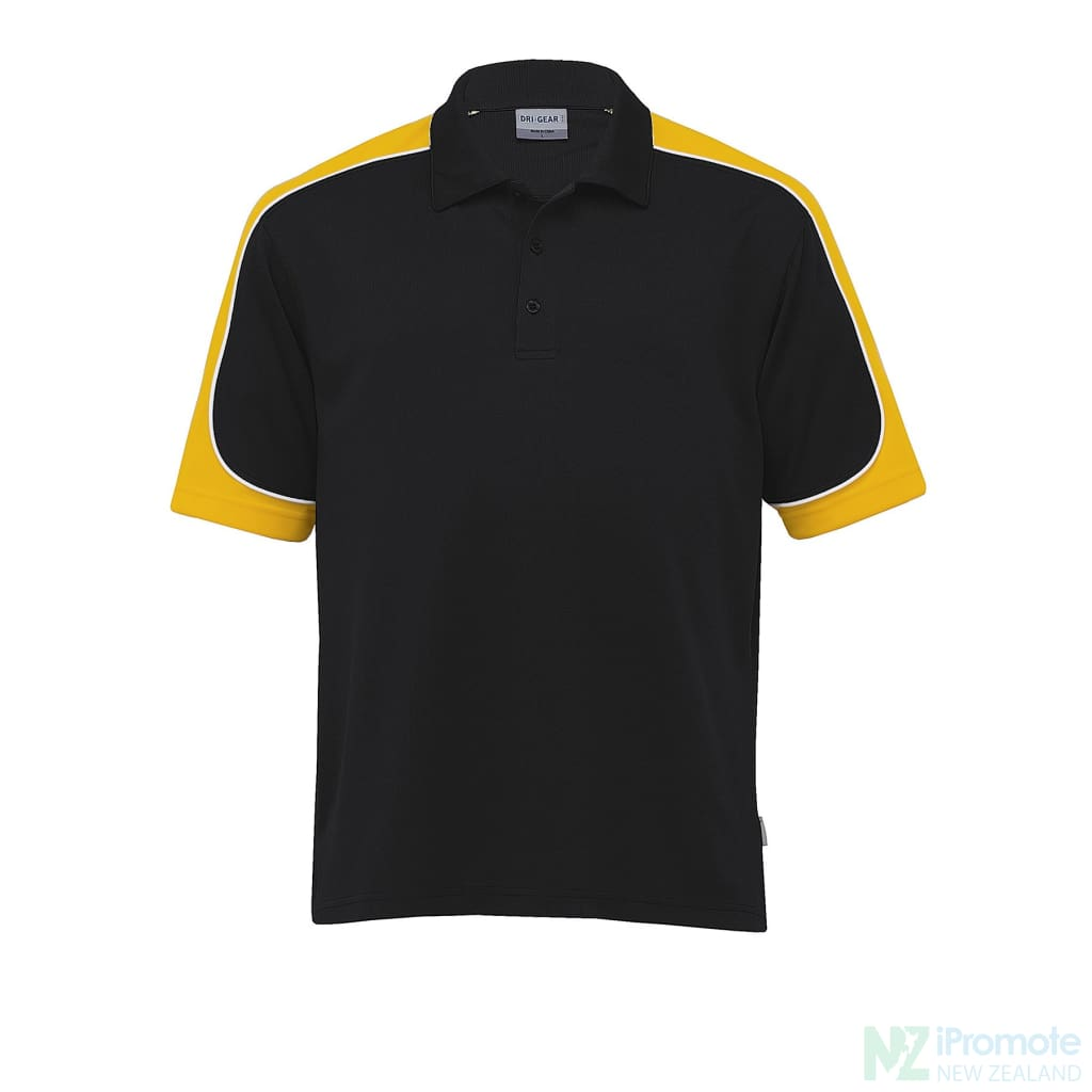 Dri Gear Challenger Polo Black/gold/white Shirts