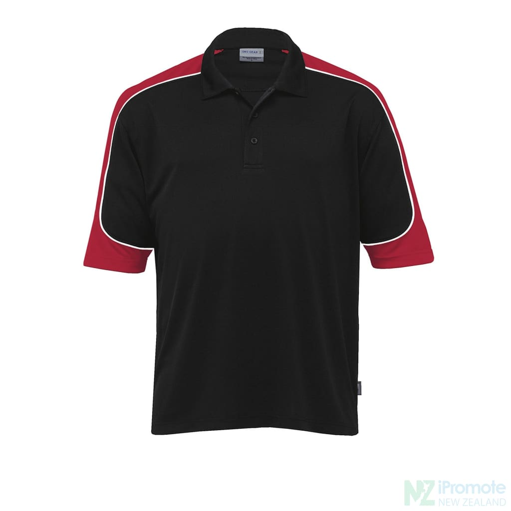 Dri Gear Challenger Polo Black/red/white Shirts