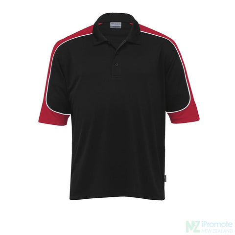 Image of Dri Gear Challenger Polo Black/red/white Shirts