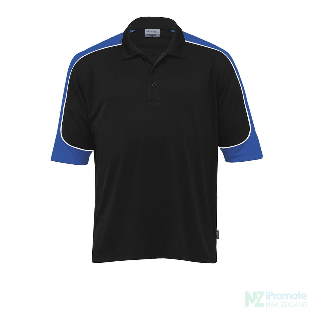 Dri Gear Challenger Polo Black/royal/white Shirts