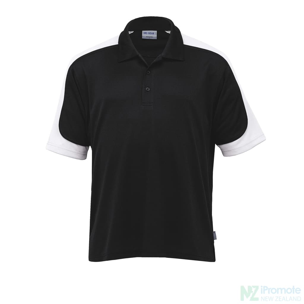 Dri Gear Challenger Polo Black/white/black Shirts