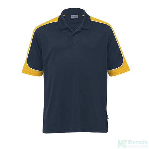 Image of Dri Gear Challenger Polo Navy/gold/white Shirts