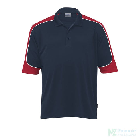 Image of Dri Gear Challenger Polo Navy/red/white Shirts