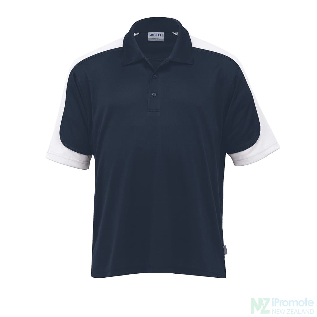 Dri Gear Challenger Polo Navy/white/navy Shirts