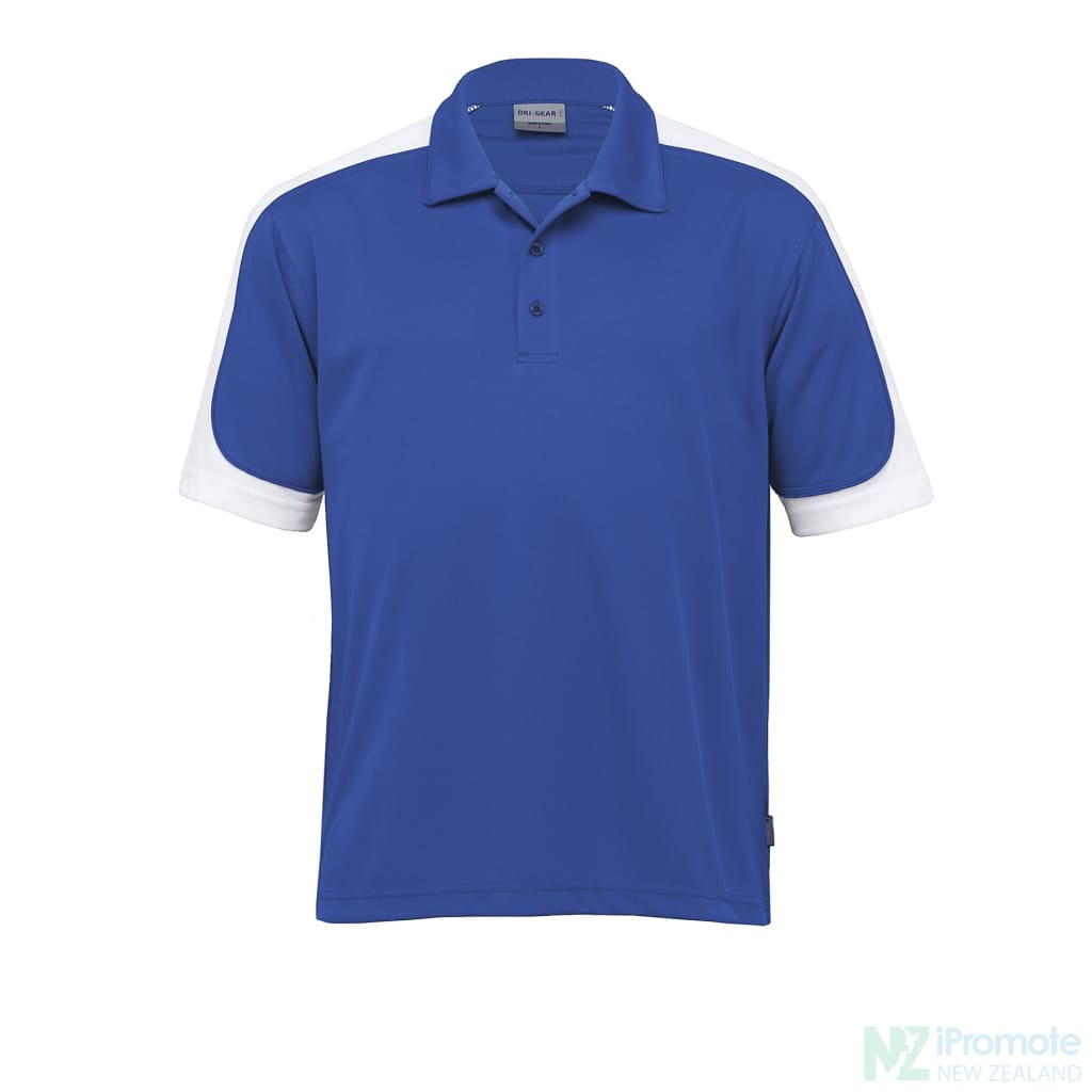 Dri Gear Challenger Polo Royal/white/royal Shirts