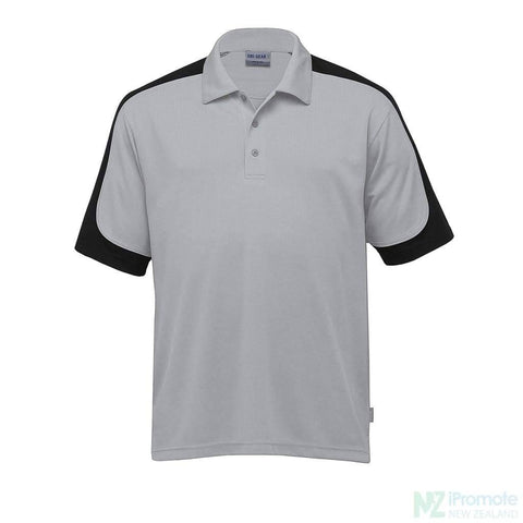 Image of Dri Gear Challenger Polo Silver/black/silver Shirts