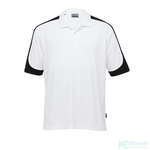 Image of Dri Gear Challenger Polo White/black/white Shirts
