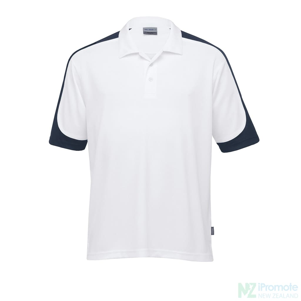 Dri Gear Challenger Polo White/navy/white Shirts